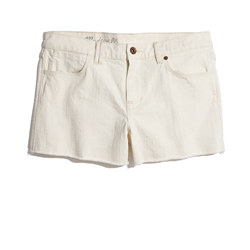 Denim Cutoff Shorts in Linen Wash