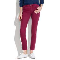 Skinny Skinny Ankle Jeans in Dusty Burgundy