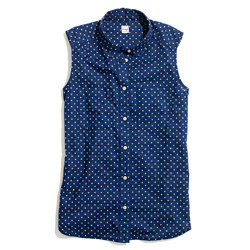 Sleeveless Hazy Dot Shirt
