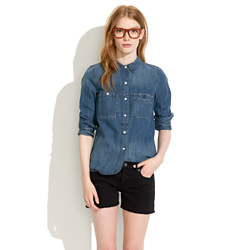 Denim Cutoff Shorts in Midnight