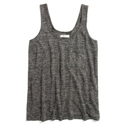 heathered Linen Pocket Tank