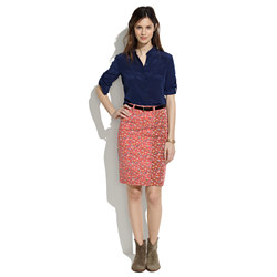 [BlankNYC] Floral Denim Skirt