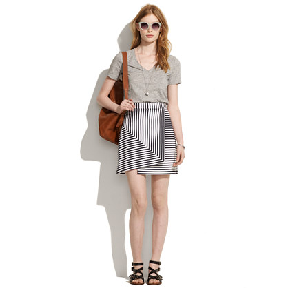 Whit® Bamboo Stripe Mini Skirt