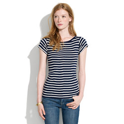 Small Trades Simpleboat Striped Cap-Sleeve Tee
