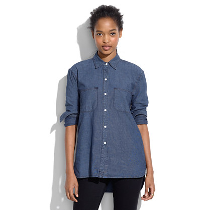 Perfect Chambray Ex-Boyfriend Shirt in Harvest Wash