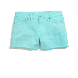 Denim Cutoff Shorts in Seaside Blue