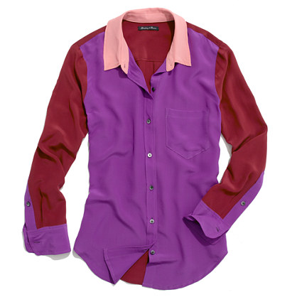 Silk Colorblock Boyshirt