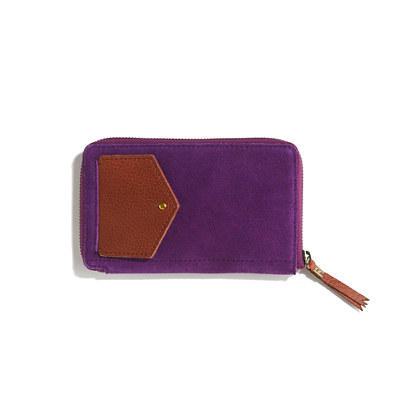 The Dispatch Wallet in suede