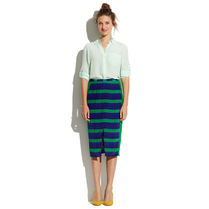 Midline Skirt in Colorblock