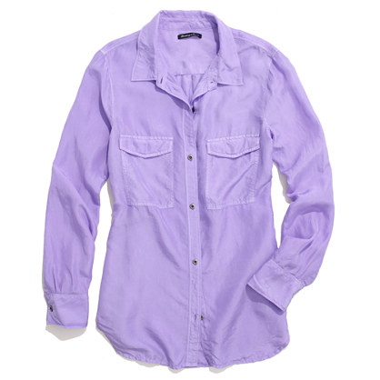 Washed Silk Boyshirt