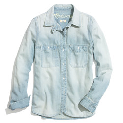Denim Boyshirt in Saltstone Wash
