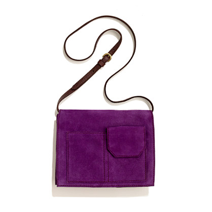The Gala Clutch in suede