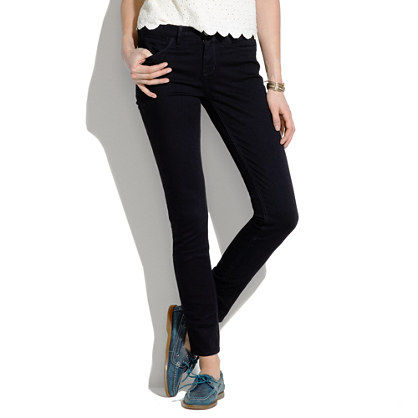 Skinny Skinny Ankle Jeans in Black Frost Wash