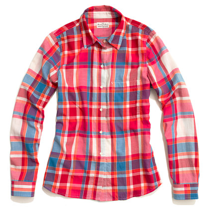 Shrunken Retroplaid Boyshirt