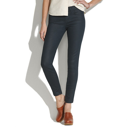 Skinny Skinny Ankle Jeans in Coated Lakestorm Wash