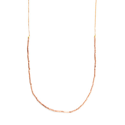 Vanessa Mooney Copper Beads Brittany Tube Necklace