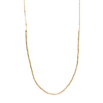 Vanessa Mooney Diamond Brass Beads Brittany Necklace