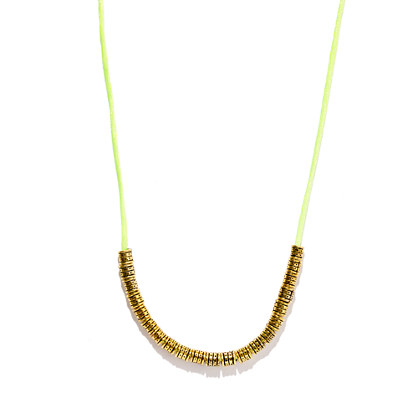 Vanessa Mooney Yellow-Gold Barrel Firefly Necklace