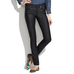 Skinny Skinny Jeans in Coated Oilwell Wash
