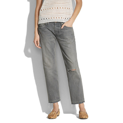 Chimala® Grey Distressed Ankle Pants