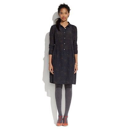 Attic and Barn® Elide Long-Sleeve Button-Front Dress