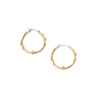 Tree-Twig Hoop Earrings