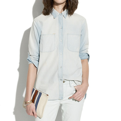 Buy shirts & clothing - Perfect Chambray Ex-Boyfriend Shirt in Ferrous Wash