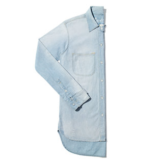 Perfect Chambray Ex-Boyfriend Shirt in Ferrous Wash