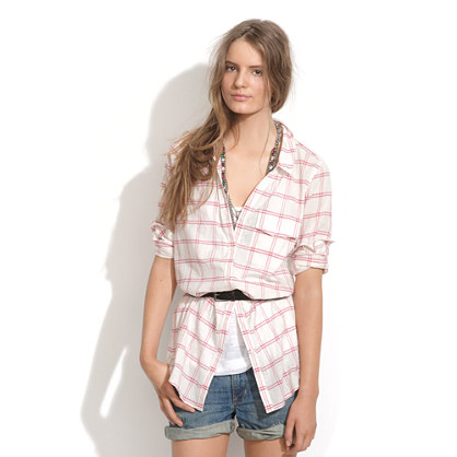 Summer Plaid Tunic
