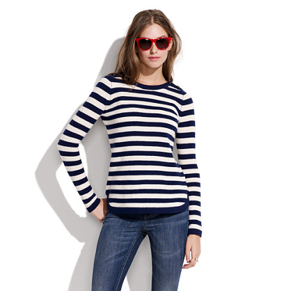 Bateau Button Sweater in Stripe