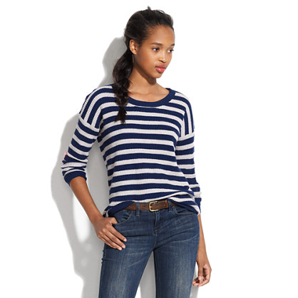 Thermal Sweater in Heartnote Stripe