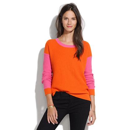 Thermal Sweater in Colorblock Stripe