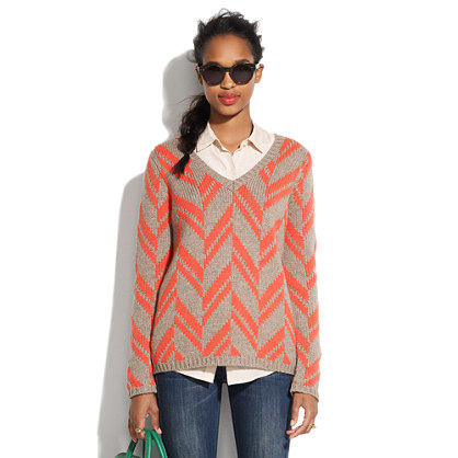 Chevron Stitch Sweater