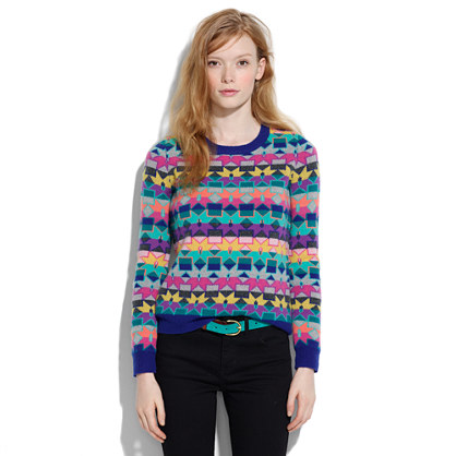 Neon Snowflake Sweater