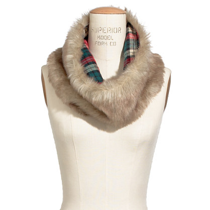 Faux-Fur Circle Scarf