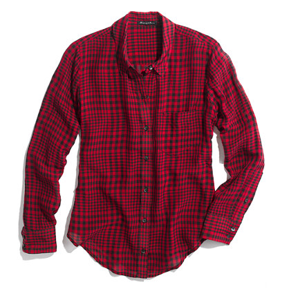 Silk Boyshirt in Checker