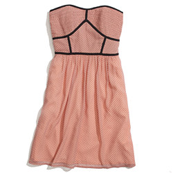 Strapless Pindot Dress