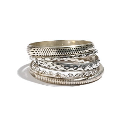 Stephan & Co. Metal Bangle Seven-Pack