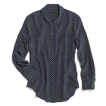 Dotted Silk Boyshirt