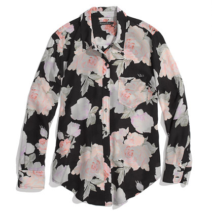 Silk Rose Print boyshirt