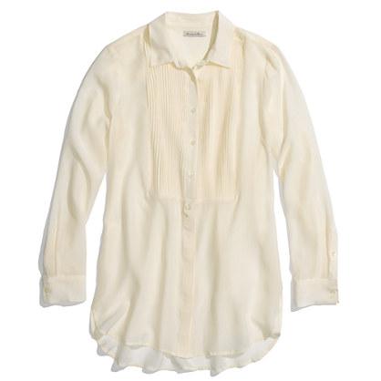 Silk Tuxedo Tunic