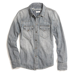 Western Jean Shirt in Desert Willow Wash