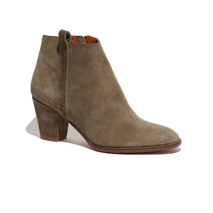 The Billie Boot :  olive suede booties shop