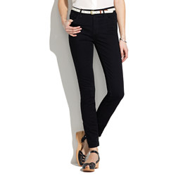 Skinny Skinny Ankle High Riser Jeans in Black Frost Wash