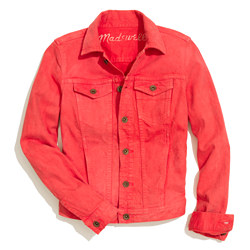 The Jean Jacket in Coral