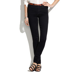 Skinny Skinny High Riser Jeans in Black Frost Wash