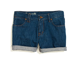 Denim Midi Shorts in Bluestone Wash