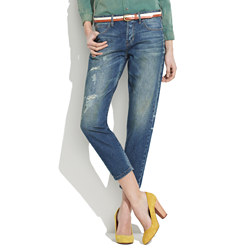 Rivet & Thread Cropped Jeans in Lagoon Wash