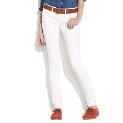 Skinny Skinny Jeans in White Wash