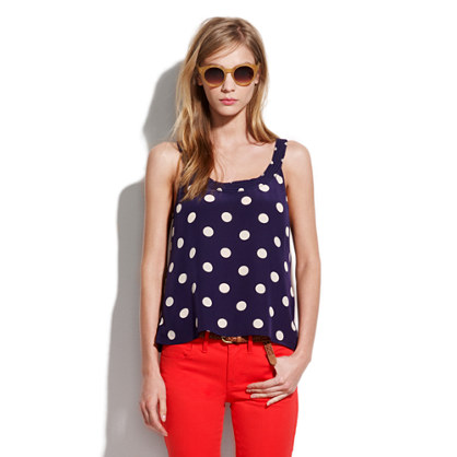 Silk Dotty Tangent Tank